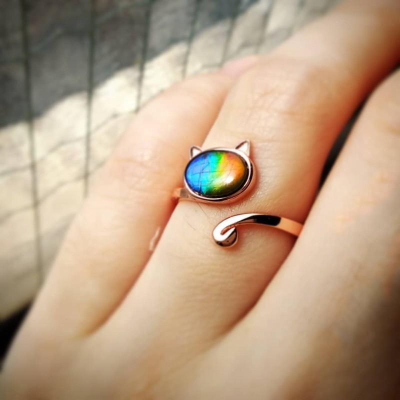 Ammolite Ring for customer